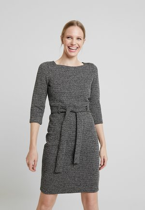 BELTED DRESS - Robe pull - black