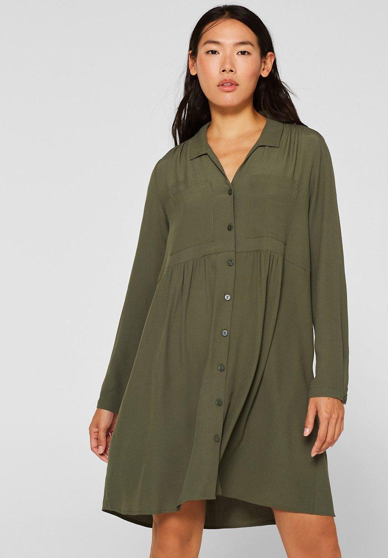 Esprit - FASHION SUMMER - Blusenkleid - khaki green