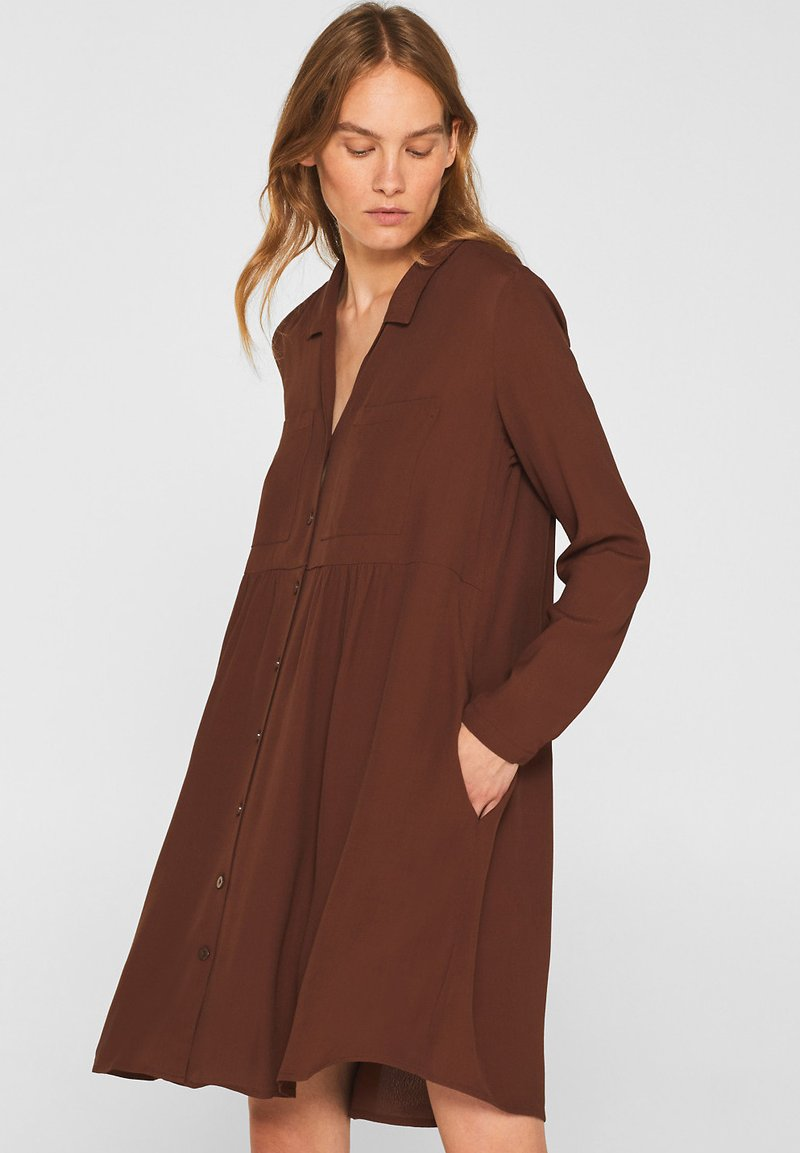 Esprit - FASHION SUMMER - Shirt dress - dark brown