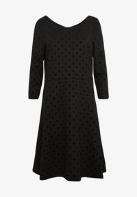 Esprit - FLOCK DRESS - Jerseykjole - black - 4