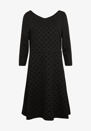FLOCK DRESS - Robe en jersey - black