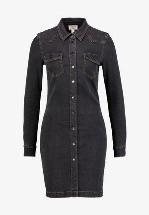 DRESS - Denim dress - grey dark wash