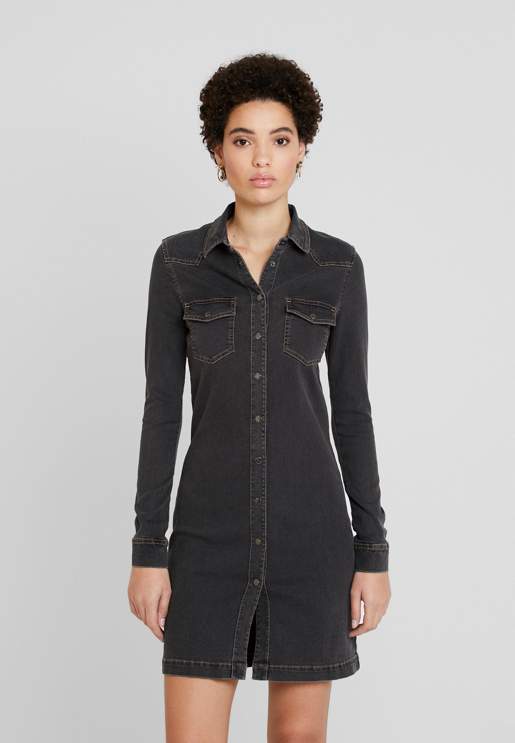 Esprit DRESS - Sukienka jeansowa - grey dark wash