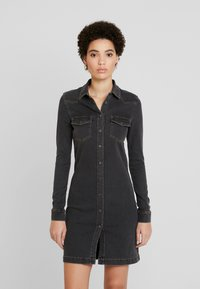 Esprit - DRESS - Spijkerjurk - grey dark wash - 0