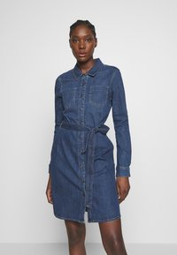 Esprit - DRESS - Denim dress - blue dark wash - 0