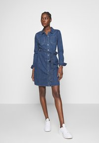 Esprit - DRESS - Denim dress - blue dark wash - 1