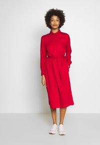 Esprit - Skjortekjole - dark red - 0