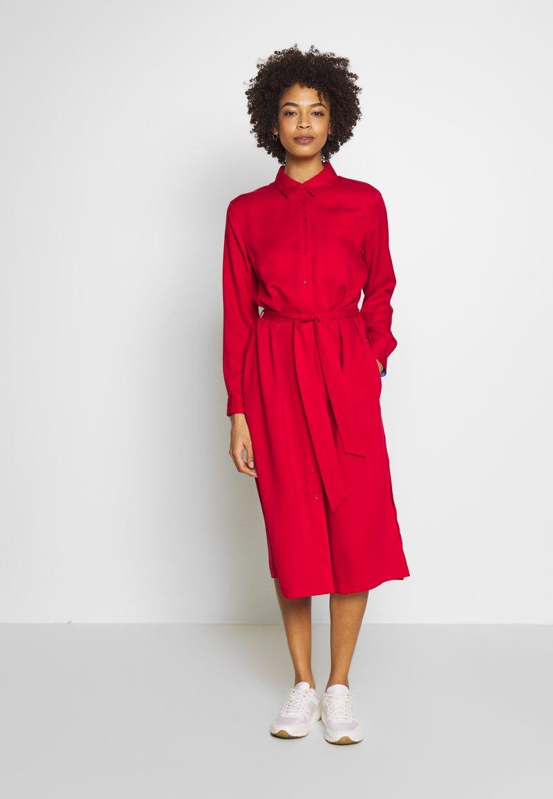 Esprit - Skjortekjole - dark red