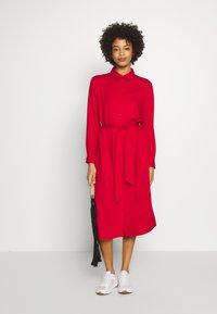 Esprit - Skjortekjole - dark red - 1