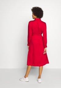 Esprit - Skjortekjole - dark red - 2