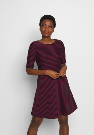 STRIPED DRESS - Day dress - navy