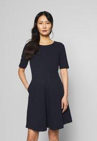 Esprit - SOLID DRESS - Day dress - navy - 0