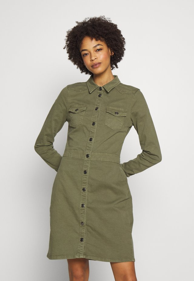 UTILITY DRESS - Vestido vaquero - khaki green