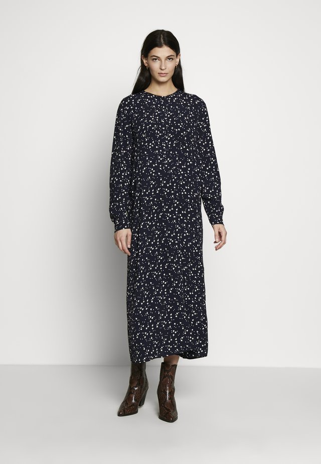 PRINT DRESS - Shirt dress - navy