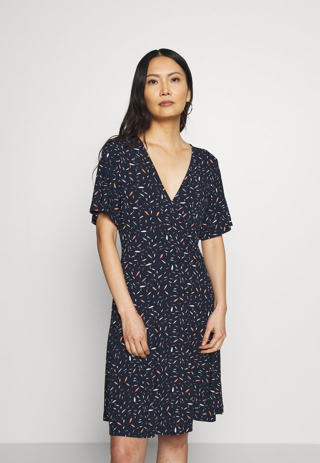 WRAP DRESS - Jerseyjurk - navy