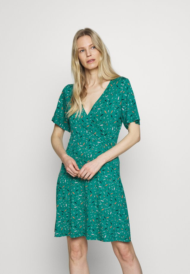 WRAP DRESS - Jerseyklänning - teal green