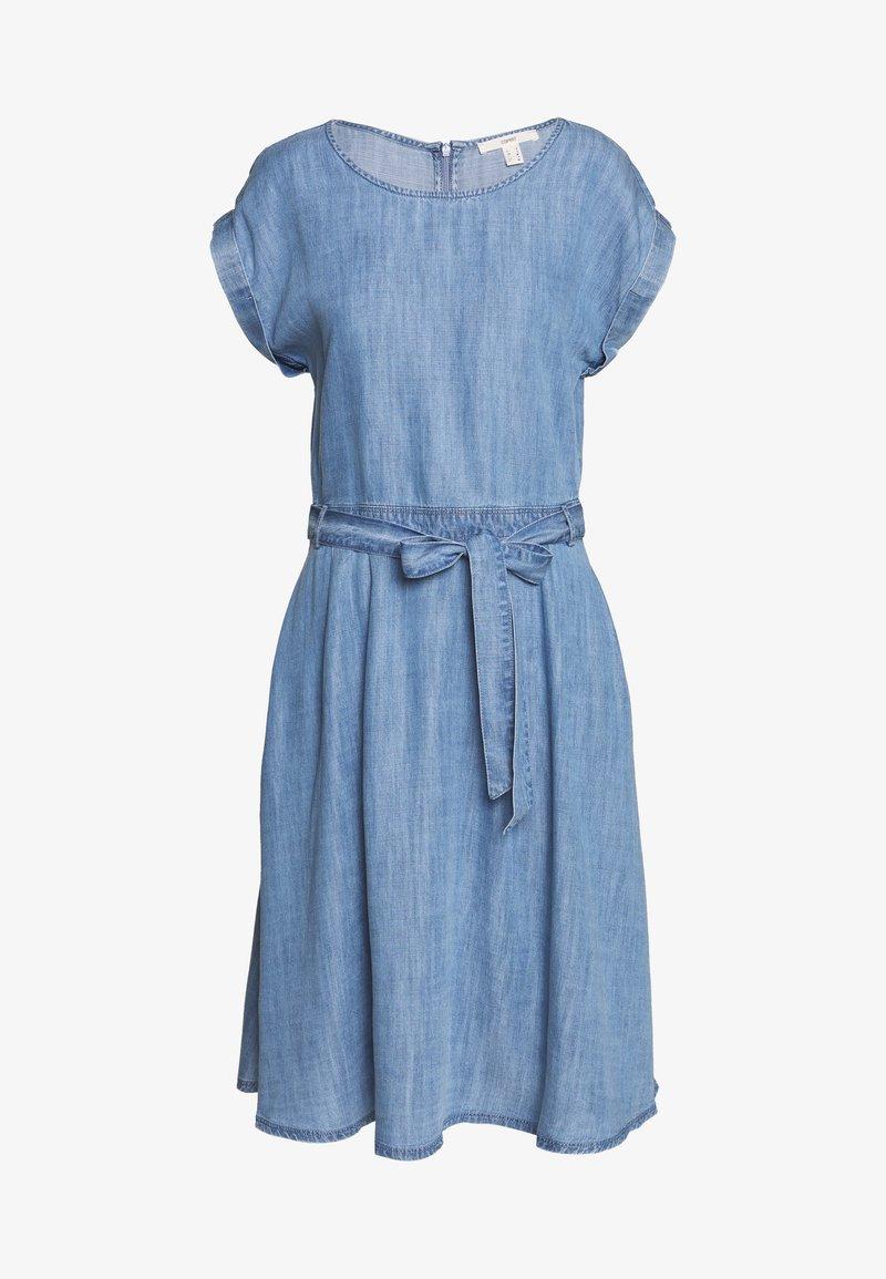 Esprit - DRESS MIDI - Vestito di jeans - blue light wash