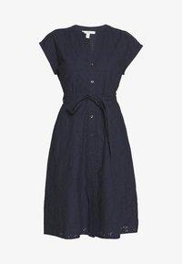 Esprit - SCHIFFLI DRESS - Shirt dress - navy - 3