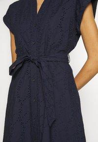 Esprit - SCHIFFLI DRESS - Shirt dress - navy - 4