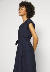Esprit - SCHIFFLI DRESS - Shirt dress - navy - 2
