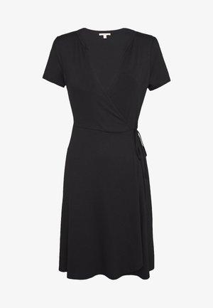 SOLID DRESS - Jersey dress - black