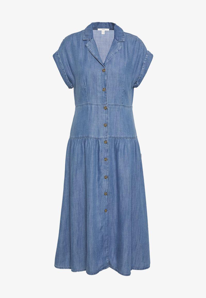 Esprit - DRESS - Jeanskjole / cowboykjoler - blue medium wash