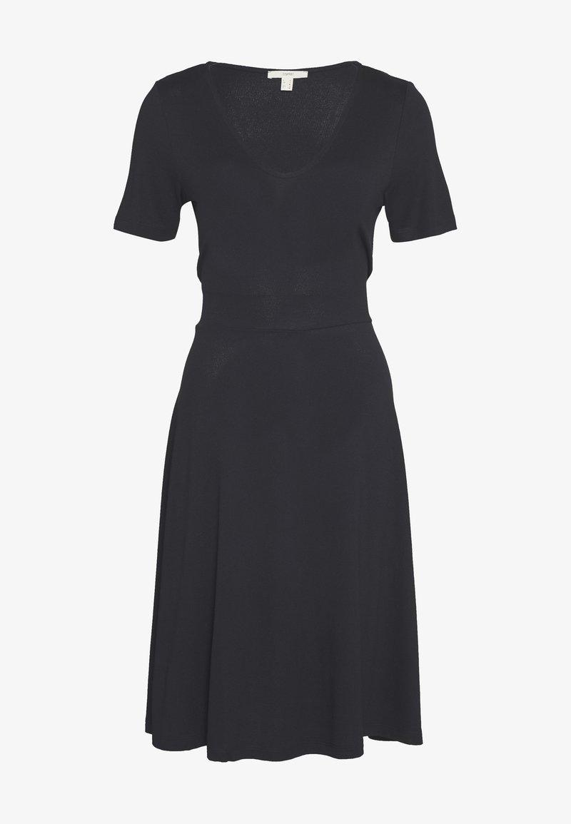 Esprit - DRESS - Žerzejové šaty - black