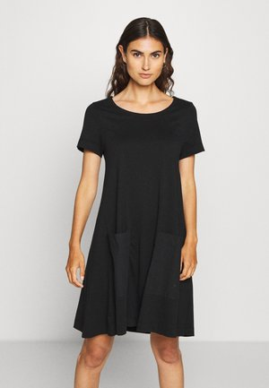 OVERSIZE MIX - Jersey dress - black