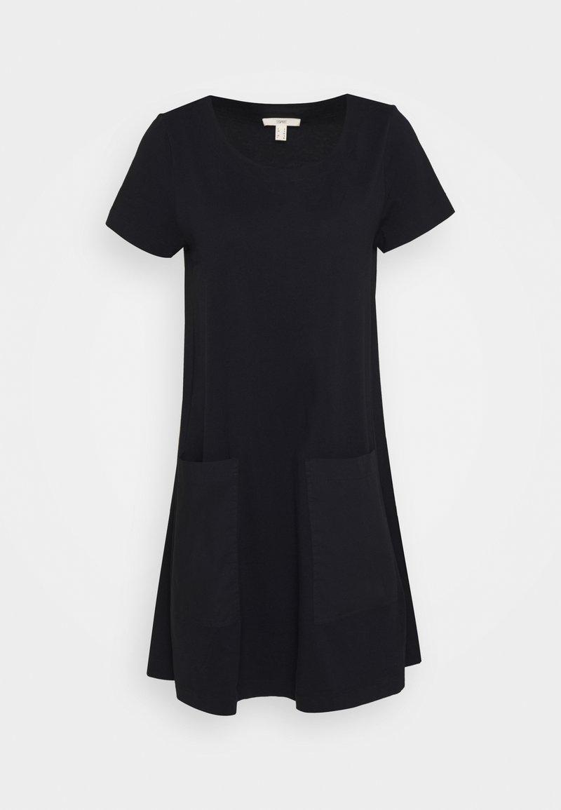 Esprit - OVERSIZE MIX - Žerzejové šaty - black