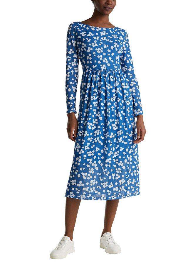 KLEID AUS CRÊPE-JERSEY - Jerseyklänning - bright blue