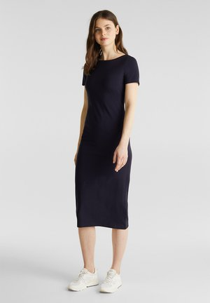 JERSEY-STRETCH-KLEID MIT ORGANIC COTTON - Jerseyjurk - navy