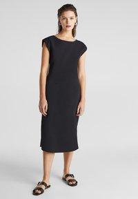 Esprit - KLEID MIT KNOPFLEISTE, 100% BAUMWOLLE - Korte jurk - black - 1