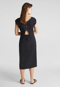 Esprit - KLEID MIT KNOPFLEISTE, 100% BAUMWOLLE - Korte jurk - black - 2