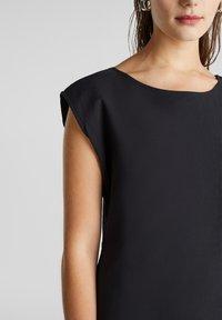 Esprit - KLEID MIT KNOPFLEISTE, 100% BAUMWOLLE - Korte jurk - black - 3