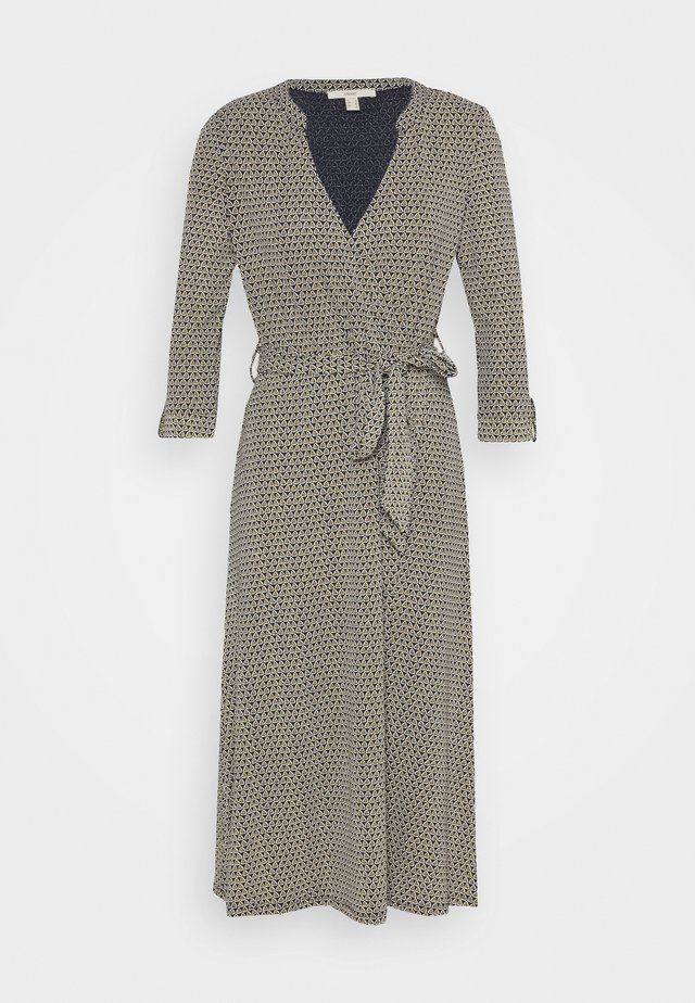 WRAP DRESS - Jersey dress - navy