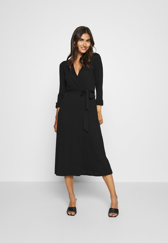 WRAP DRESS - Maxiklänning - black