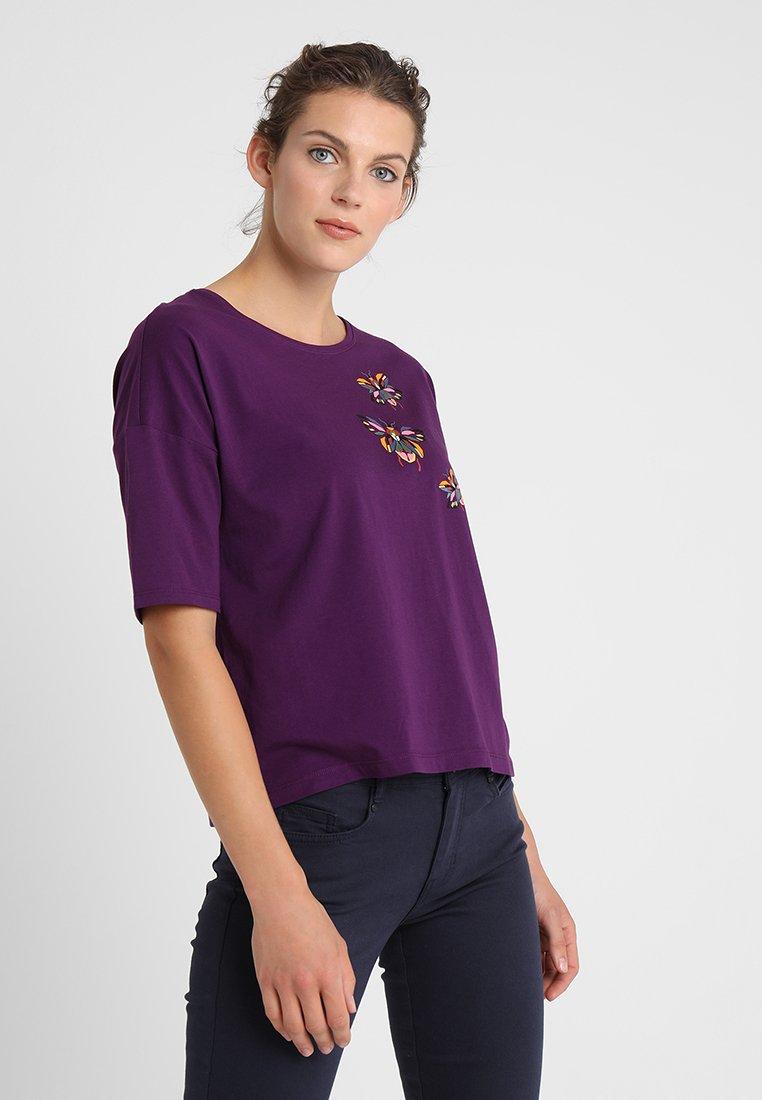 Esprit - BUG TEE - T-shirt à manches longues - plum red