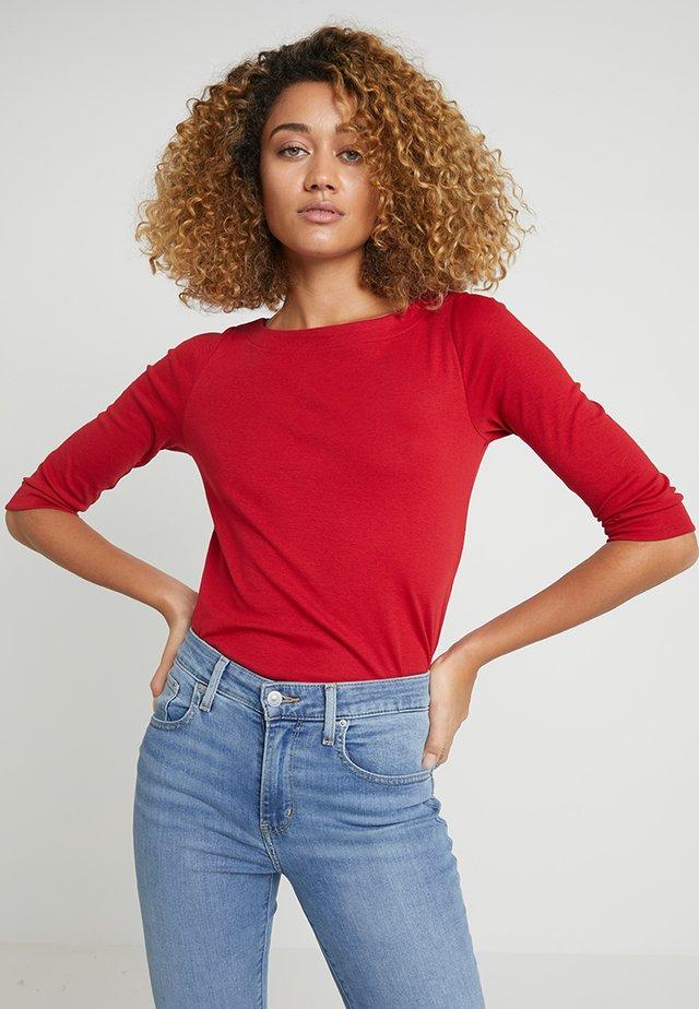 Bluzka z długim rękawem - dark red