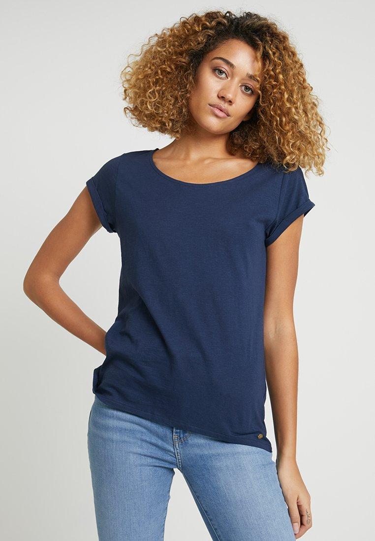 Esprit - HIG LOW - Basic T-shirt - navy