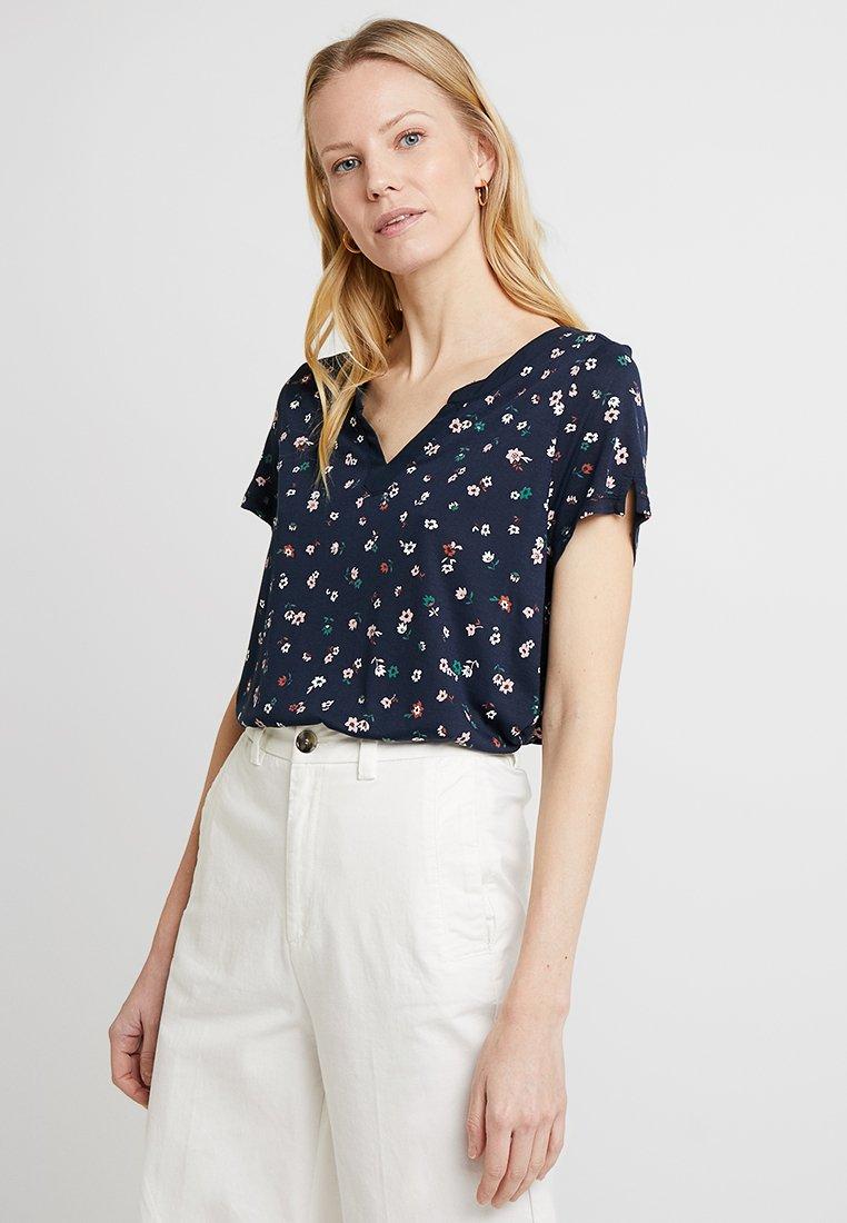 Esprit - FLOWER - T-Shirt print - navy