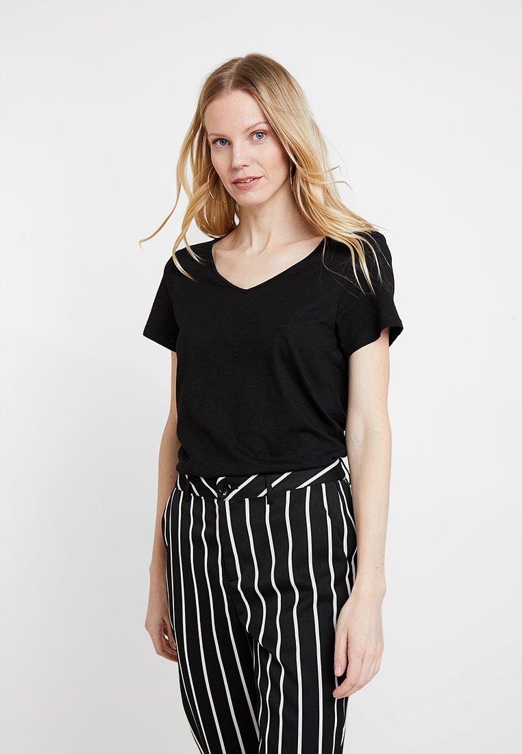 Esprit - TWISTED BACK - Camiseta estampada - black