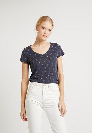CACTUS TEE - T-shirt z nadrukiem - dark blue