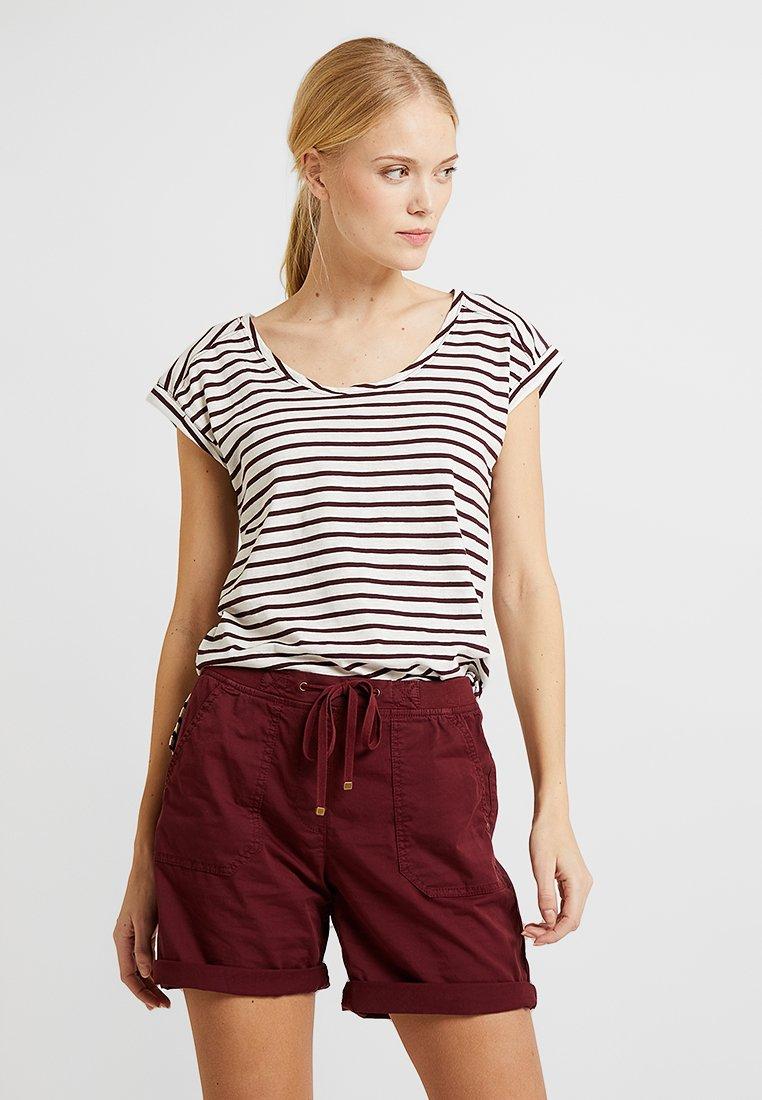 Esprit - BOYFRIEND - Print T-shirt - bordeaux red