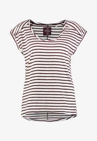 Esprit - BOYFRIEND - Print T-shirt - bordeaux red - 3