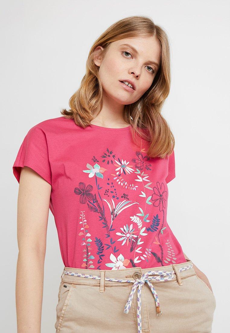 Esprit - ADD TEE - Print T-shirt - pink fuchsia