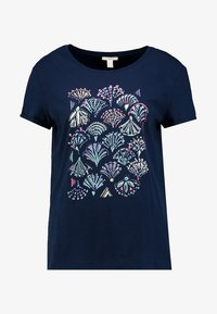 Esprit - ADD TEE - T-shirt med print - navy - 3