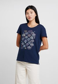 Esprit - ADD TEE - T-shirt med print - navy - 0