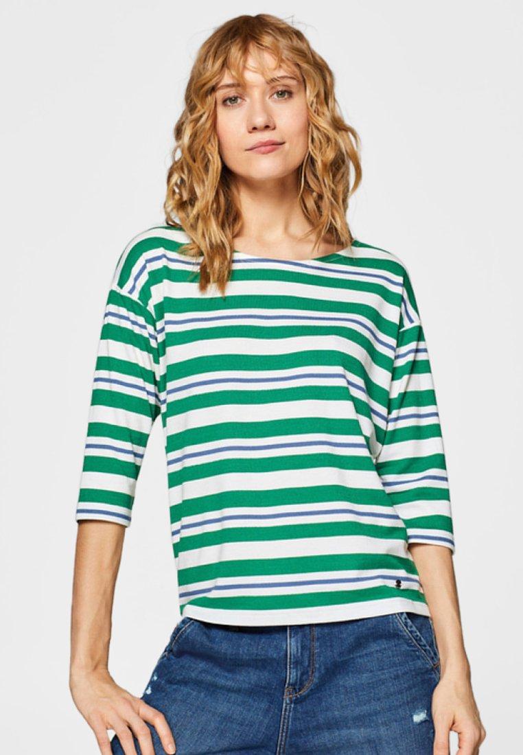 Esprit - STRIPE - Langarmshirt - green