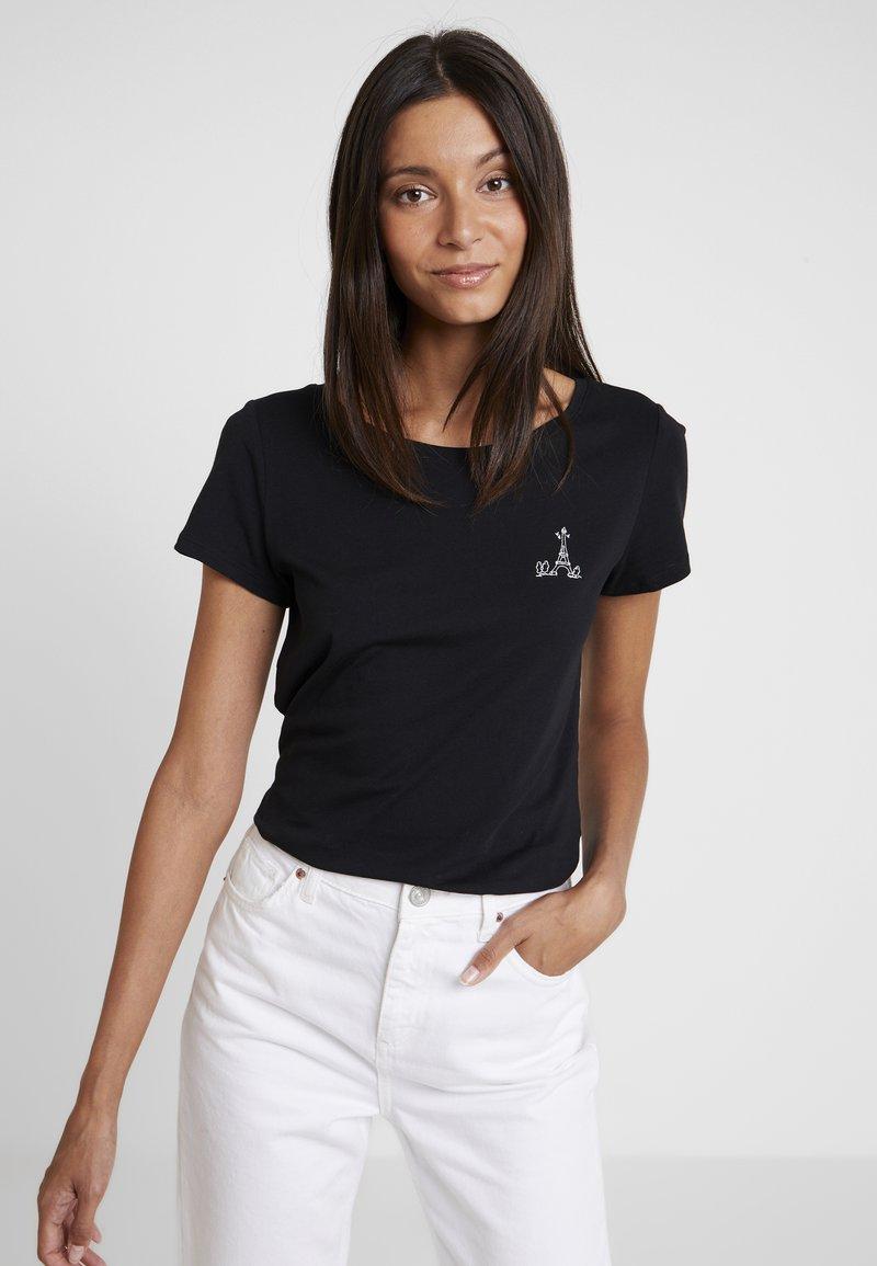 Esprit - FASHION TEE - T-shirt z nadrukiem - black
