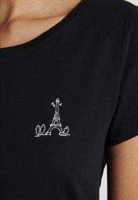 Esprit - FASHION TEE - T-shirt z nadrukiem - black - 5